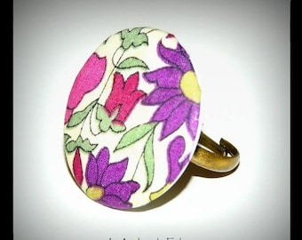 Ring tray in liberty floral fabric