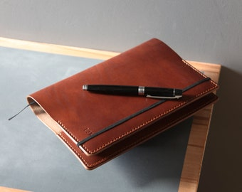 Leather notebook cover / moleskin cover A5 journal