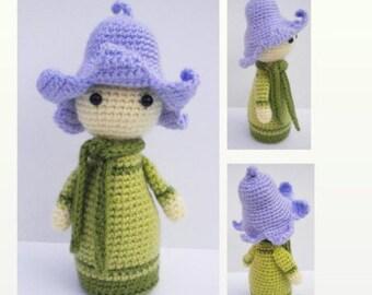 Crochet Pattern Amigurumi Doll - Flower Doll Bluebell Bonnie