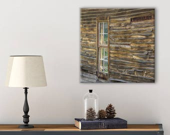 Modern Rustic Decor - Architecture Art - Rustic Cabin - Photography Canvas - Rustic Wall Art - Abandoned Photography - Farmhouse Wall Decor