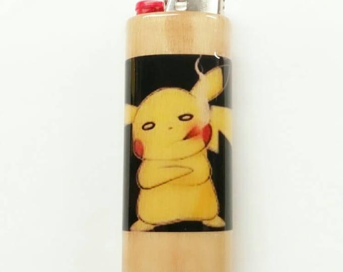 Smoking Pikachu Pokémon Lighter Case, Weed, Marijuana, Ganja, Hemp, Lighter Holder, Lighter Sleeve