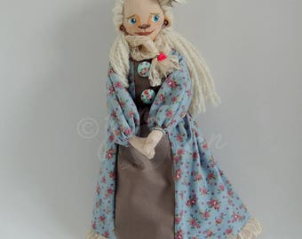 The Flowery Duchess (Handmade one of a kind doll)