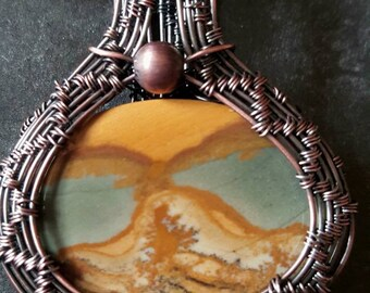 Owyhee Picture Jasper Cabochon Necklace