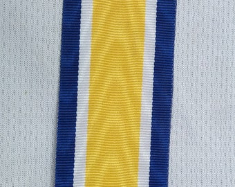 Military medal ribbon mirror,water mark ribbon,weaved ribbon,Mounting,army uniform blue,yellow,white,32mm