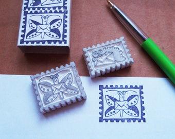 La valeur timbre timbres papillons