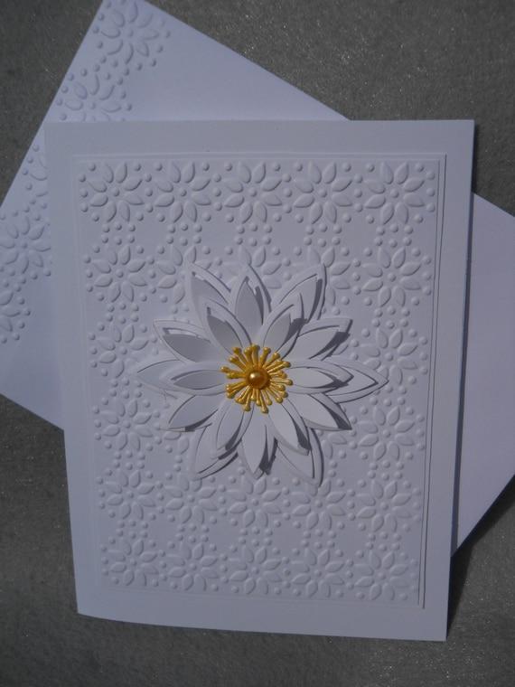 handmade card white daisy flower flower card single flower
