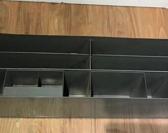 Desk Organizer Industrial Metal Office Midcentury Machine Age