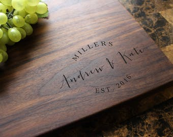 Personalized Engraved Cutting Board - Wedding Gift, Anniversary Gift, Housewarming Gift, Birthday Gift, Corporate Gift, Promotion. 908