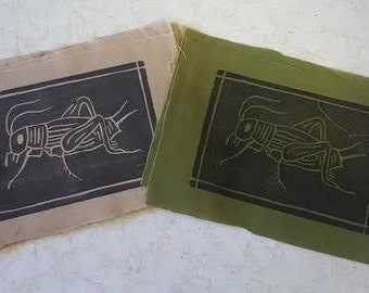 Cricket (insect) Block Print Patch