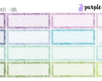 Circle Doodle Quarter Boxes // Planner Stickers!