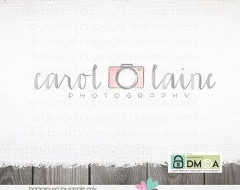 Premade Logo Photography logo Watercolor logo Camera logo Hand Drawn logo Photography logos and watermarks Photographer premade Logo Design