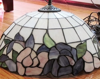 Stained glass lamp etsy 190 panels slag leaded stained glass lamp shade mozeypictures Image collections