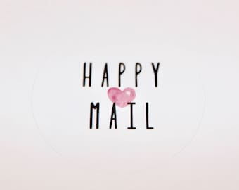 Happy Mail Stickers | Packaging Labels | Mail Labels | Cute Stickers | Envelope Seals | Poshmark & Mercari Sellers