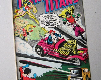 Old Comic Book, Teen Titans No 3, DC Comic, 1960s, Vintage Comic Book, Comic Book, Robin, Kid Flash, Wonder Girl, AquaLad, Teenage Heroes