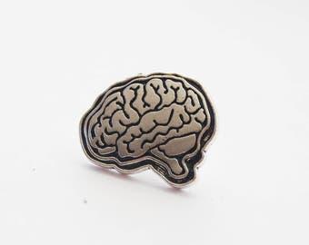 Brain Tie Pin, Brains Pin, Brain Lapel Pin, Anatomical Brain pin, Anatomy tie pin, Brain Tie Tack, Funny Tie Pin, Novelty Lapel Pin