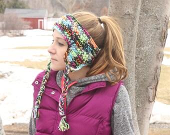 neon earflap headband