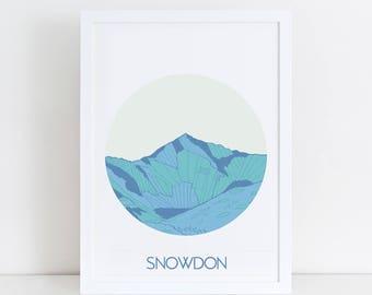 Mountain Art   Snowdon Print   Outdoor Adventure   Mountain Print