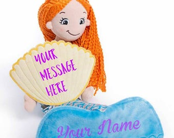 Personalized Mermaid Doll, Girl's Mermaid Doll, Mermaid doll