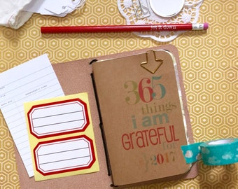 Gratitude Journal, Field Notes A6 A5 Passport, Midori Refill, 365 Things, Travelers Notebook, Travellers Notebook, Grateful Thankful Blessed