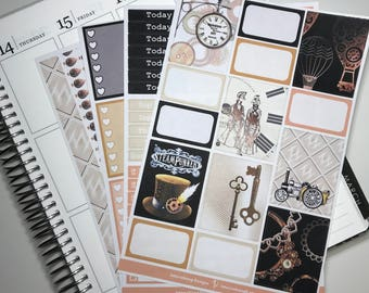 Steampunk Main Kit - Collection - Planner Stickers - Erin Condren - No White Space Planning