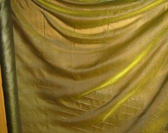 FABRIC ORGANZA GREEN EFFECT CROCODILE - BY THE YARD