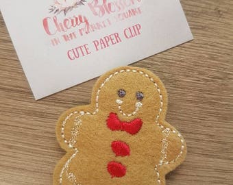 Gingerbread Man Christmas Paper Clip