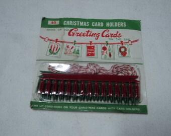 Vintage Christmas Greeting Card Hangers