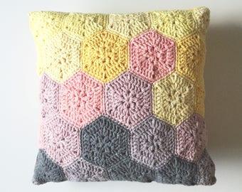 Colour Block Hexie Pillow