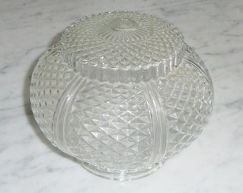 Vintage Diamond Pattern Clear Glass Swag Shade for light or Sconce Fixture