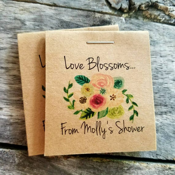 Flower Seed Wedding Favours: Personalized MINI Floral Bridal Shower Flower Seed Packet