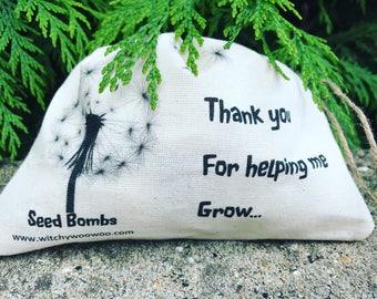 Gratitude gift seed bombs • teachers gift • wedding favour • memorial • baptism • christening • baby shower