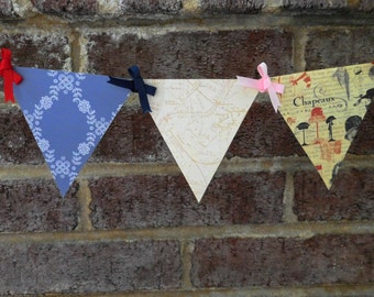 French Map Paper Pennant Banner for French-Themed Parties and Room Decor