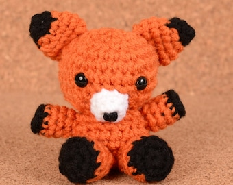 Mini Rox the Fox Crochet Toy Doll