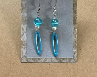 Retro Elegance Earrings in Baby Blue