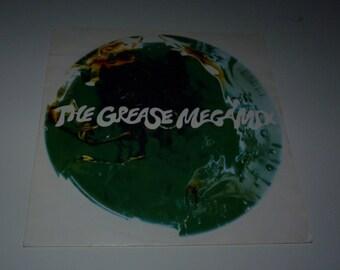 """John Travolta and Olivia Newton-John (remixed by Harding Curnow) - The Grease Megamix 12"""" Single"""