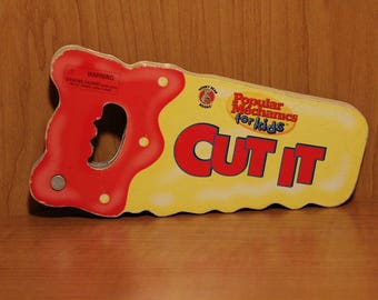 Honey Bear Books ~ Cut It ~ Popular Mechanics for Kids ~ Handsaw Shaped Children's Board Book ~ Educational ~Collectible from 1997