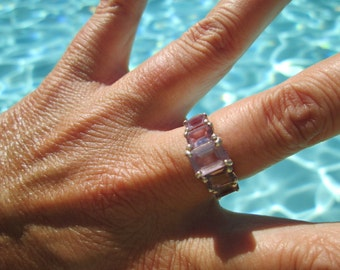 Sterling Silver Amethyst Ring Size 7.25