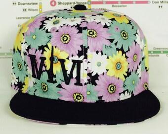 Beautiful Floral 416 hats. Original, Custom Unisex Snap backs, CN Tower, The Six, 6ix, Area Code 416 Roman Numerals, OVO, The Weeknd, Fresh!