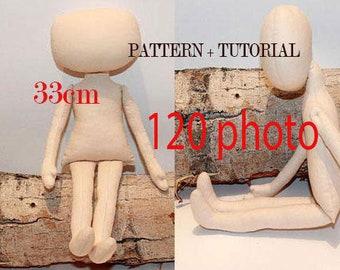 Pdf Rag doll pattern Cloth Doll Pattern PDF Ragdoll pattern Rag Doll patterns Doll body PDF Pattern Doll Body Making Tutorial Doll Body PDF