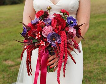 Fall Pink & Purple Wedding Bouquet, Example Only!! DO NOT PURCHASE