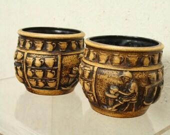 West german pottery planters by Knodgen