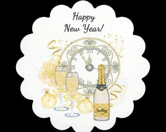 New Years Coasters - Disposable Coasters - New Years Eve Party Coasters