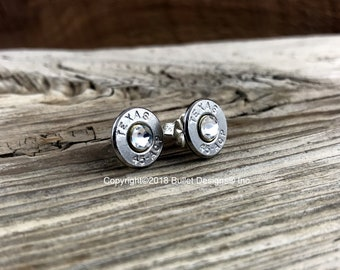 Bullet Earrings, Texas 45 ACP Nickel Bullet Stud Earrings, Texas Earrings, 45 ACP Earrings, Stud Earrings, Birthstone Earrings, Custom