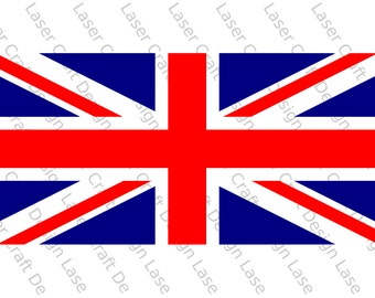British Flag Stencil, Make Your Own Union Flag of Great Britain, Various Sizes, Reusable, Fabrics, Wall Art, Crafts, Flexible, 190 Micron.