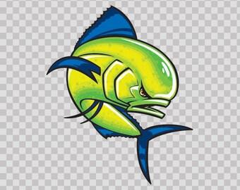 Sticker Decal Dorado Dolphin Fishing Fisherman fish boat Atv Durable Hobbies 06171