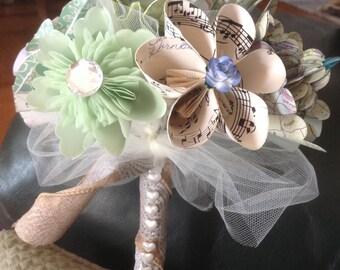Rustic Origami Paper Flower Bouquet