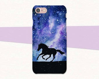Space Galaxy Horse iPhone Case, iPhone 7 Case, Horse Phone Case, iPhone 6 Case, Horse Case, iPhone 6 Plus, iPhone SE, Gift for Horse Lover