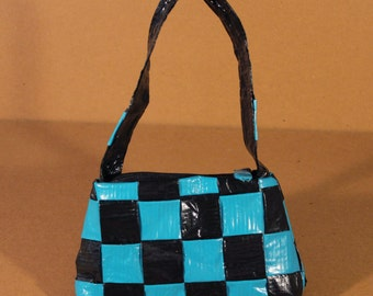 Checkered Duct Tape Purse