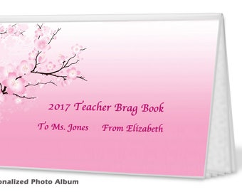 Teacher Gift - Cherry Blossoms - Photo Album -  Unique Teacher Gift - can be PERSONALIZED - PA50423