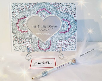 Personalised Guest Book, Notebook, Diary, gift, Guest book & pen